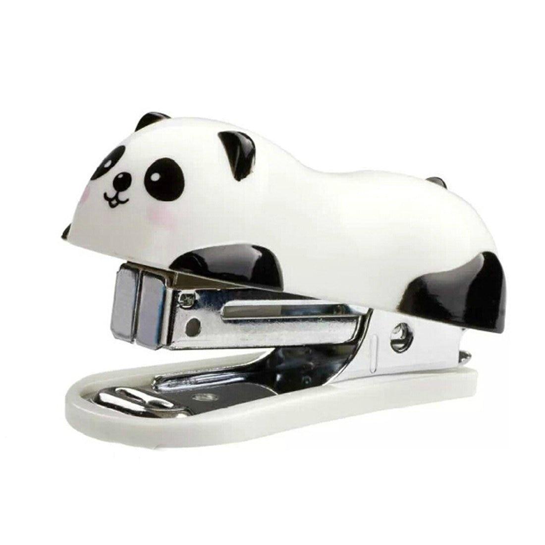 M&G Cute Panda Mini Desktop Stapler,Home Stapler With 1000 Staples,Animal Stapler Set For School And Office With Staples Remover