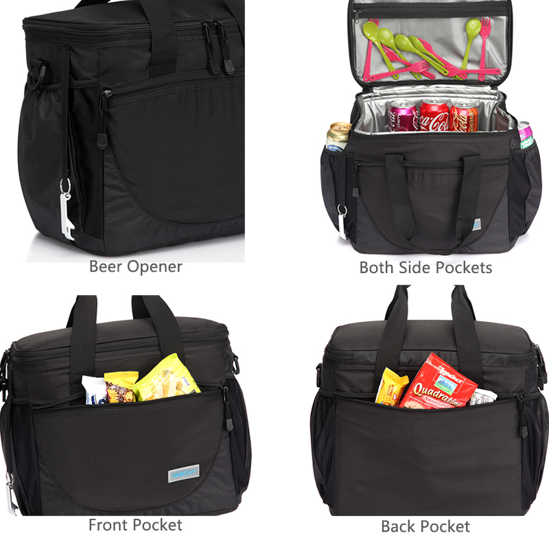VASCHY Large Cooler Bag 23L Insulated Leakproof Picnic Lunch Bag Multi Pockets Detachable Shoulder Strap Ice Pack Cooler Box in Lunch Bags from Luggage Bags