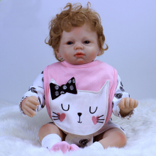 Reborn dolls wholesale 22″53cm soft silicone reborn baby boy girl dolls for children