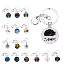 Hot Riverdale keychain Glass Cabochon key Chains Couple Necklaces Pendants Women Men Jewelry Avengers thanos Christmas gift(China)