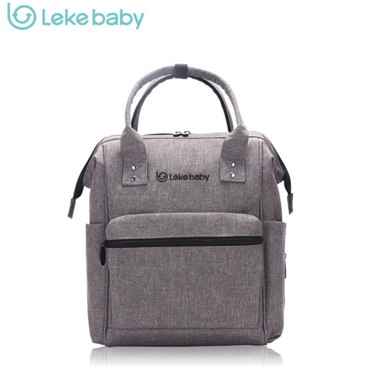 ФОТО LEKE Brand Baby Bag Fashion Nappy Bags Large Diaper Bag Backpack  Maternity Bags For Mother  Baby Nappy Handbag  Small Size