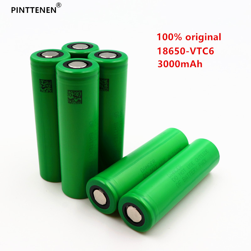 100% original 3.7V 3000 MAH Li ion rechargeable 18650 battery to us18650vtc6 vtc6 30A Electronic cigarette toys tools flashlight