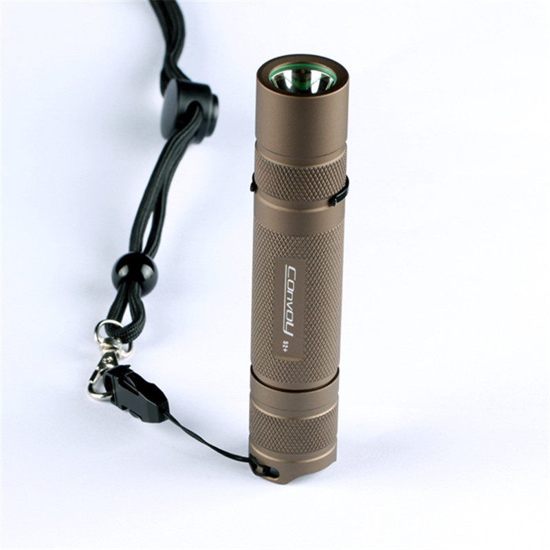 Convoy S2+ Waterproof Aluminium Alloy Sand XP-L HI 7135x8 3/5modes 1000 LM EDC LED Flashlight By 18650 Battery For Camping