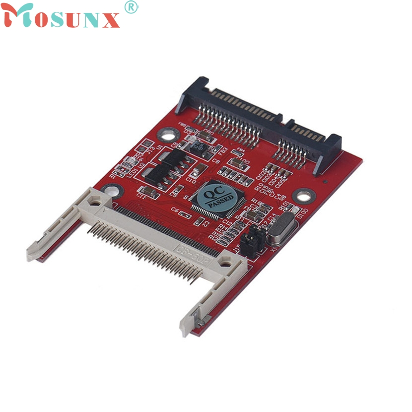 mosunx Mecall 1PC CF Compact Flash Type I/II To 2.5 Inch SATA Serial Adapter wholesale new dropship new compact flash type i ii cf to sata converter hdd hard disk drive card adapter