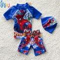 Bebé muchachos traje de 90-105 cm Spider-Man de dibujos animados niño niños traje de baño infantil traje de baño de una pieza traje de baño de bebé de natación desgaste