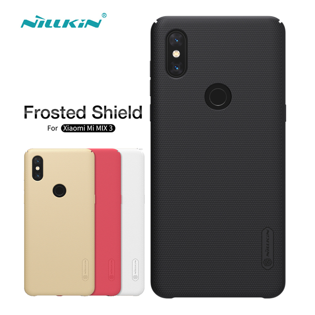Xiaomi Mi Mix 3 Case Nillkin Frosted Shield Hard Back Cover Matte Case For Xiaomi Mi Mix 3 Bumper Gift Holder