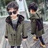 2017 New Fashion Autumn Winter Boys Faux Fur Coat Baby Thicken Outerwear Child Clothing Children Clothes
