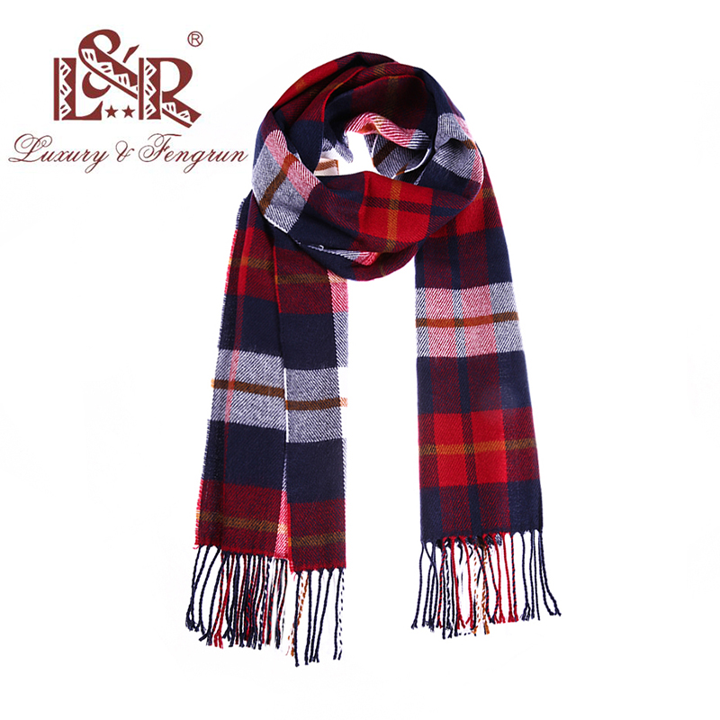 2018 Autumn Winter Unisex Cashere Foulard Plaid Male Casual Design Scarfs Men Luxury