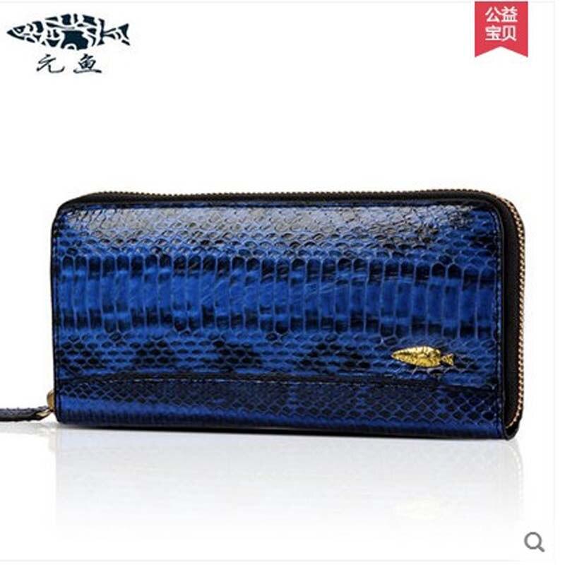 yuanyu 2017 hot new free shipping authenticity  new water snake skin women bag women purse long korea edition hand caught wallet цена и фото