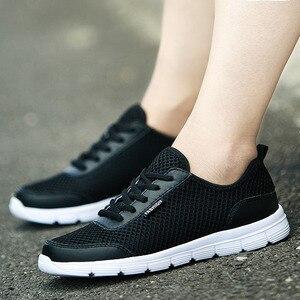 Image 5 - REETENE 2019 hommes chaussures été baskets maille chaussures hommes décontractées mode confortable chaussures plates pour homme Tenis Feminino Zapatos grande taille