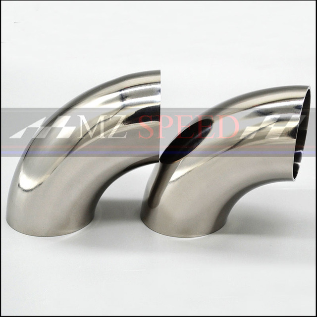 51mm 57mm 63mm 76mm OD sanitarna spoina czołowa 90 stopni kolanko zginania rury 304 rura wydechowa samochodu ze stali nierdzewnej tłumik spawane rury
