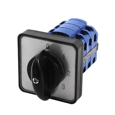 CA10 6 Positions 10 Screw Terminals Rotary Select Cam Changeover Switch thgs 8 terminals 5 positions master control rotary cam switch 20a black blue