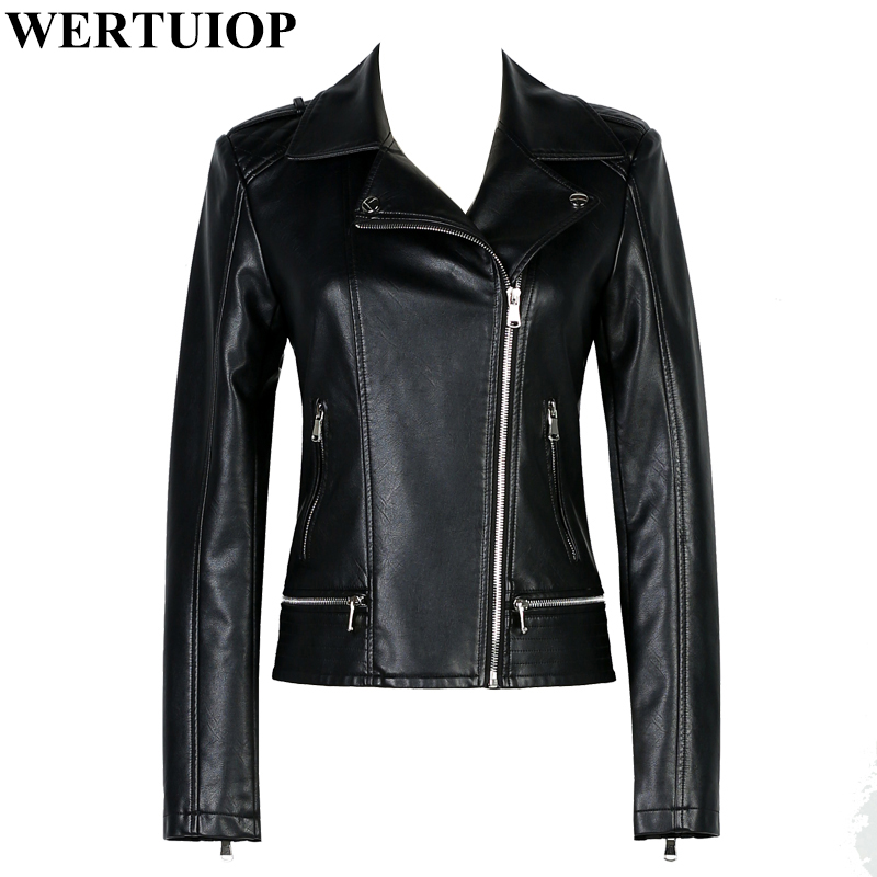 WERTUIOP Leather Jacket Womens Spring And Autumn 2018 New Female Coat Short Wild Small L ...