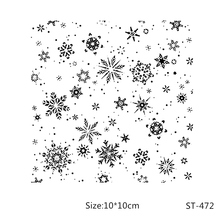AZSG Beautiful snowflake Theme clear stamp scrapbook rubber seal paper craft card making