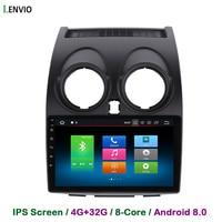 Lenvio 4G RAM 32G ROM Octa Core Android 8.0 CAR DVD GPS Navigation Player For Nissan Qashqai 2007 2008 2009 2013 Radio WIFI IPS