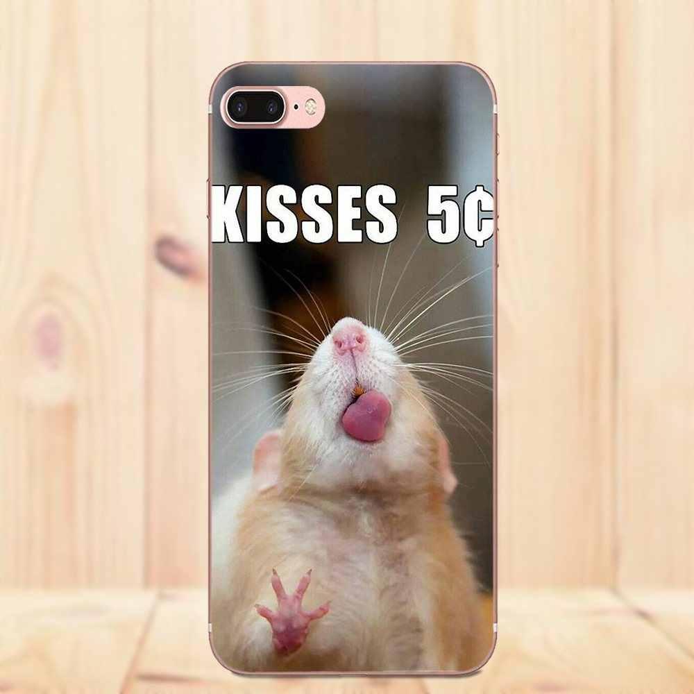Для Xiaomi Redmi Note 2 3 3 S 4 4A 4X5 5A 6 6A Pro Plus ультра тонкий узор граффити крыса носить очки Ist Banksy