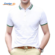Covrlge Male Polo Shirt Summer Men's Short Sleeve Polo Fashion Solid Business Clothes Luxury Men Tee Shirt Brand Polos MTP015
