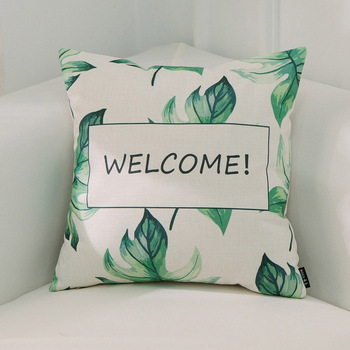Welcome Tropical Cushion