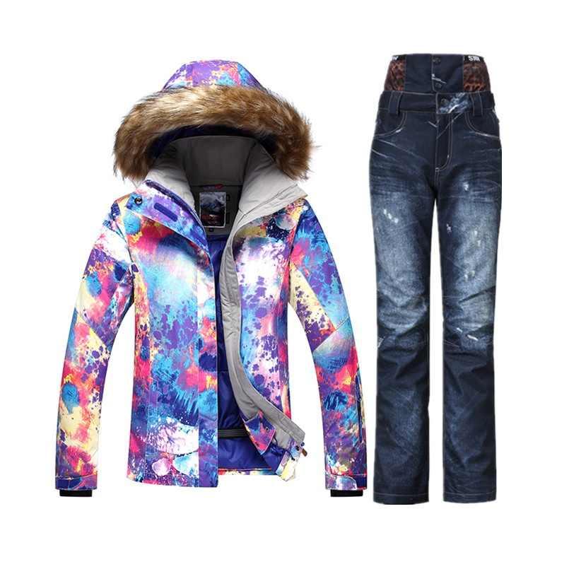 834bb169a51a Gsou SNOW горнолыжный костюм женский,сноуборд,Теплый, лыжи,лыжный костюм  женский,