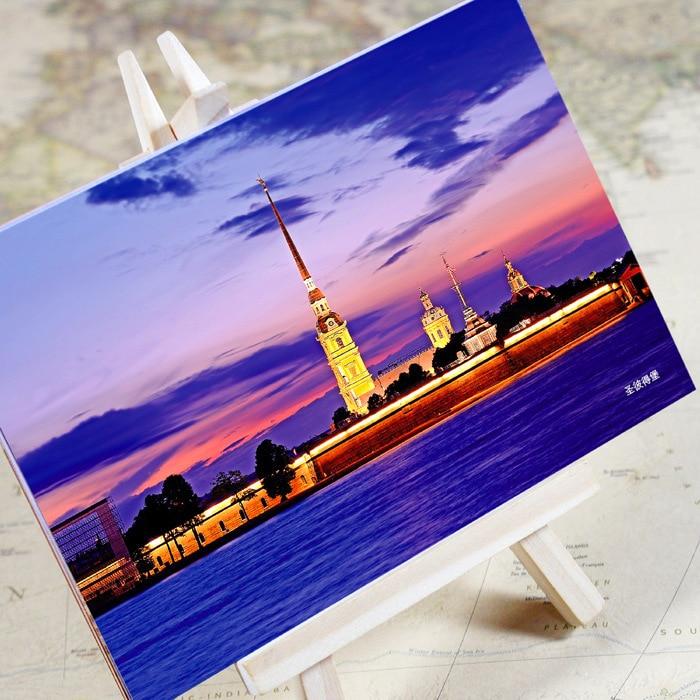 6pcs/set Charming City Series - St.Petersburg Urban landscape Postcard /Greeting Card/Birthday Card/Christmas gifts