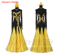 Custom Embroidery Ballroom Dance Dress Women Lady's Ballroom Waltze Tango Dance Performance Costumes Competition Clothing