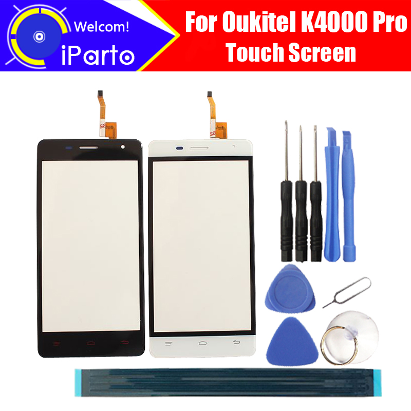 5.0 inch Oukitel K4000 Pro Touch Screen Panel 100% Guarantee Original Glass Panel Touch Screen Glass For K4000 Pro, 2 touch