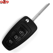 HKOBDII Brand New Folding Flip Remote Key 2/3 Button 433MHZ For 2012-2015 FORD Focus With 80Bit 4D63 Chip