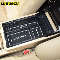 2012 2013 2014 2015 2016 2017 Central Armrest Console Organizer Tray Refrigerator Box For Toyota Camry