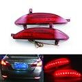 2x Red LED Rear Bumper Reflector Light Tail Brake Parking Warning  Lamp for Hyundai Elantra 2011-2013