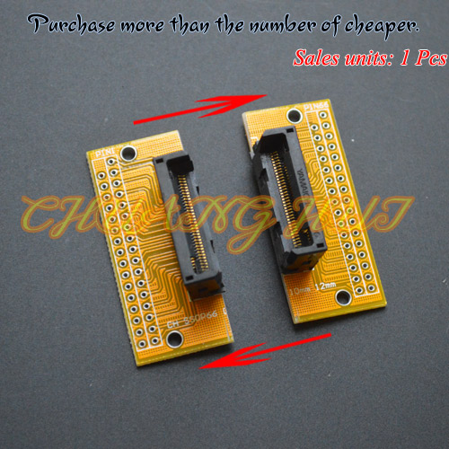 SSOP8-SSOP66 test socket SSOP ic socket Pitch=0.65mm Width can be adjusted freely without restrictionSSOP8-SSOP66 test socket SSOP ic socket Pitch=0.65mm Width can be adjusted freely without restriction