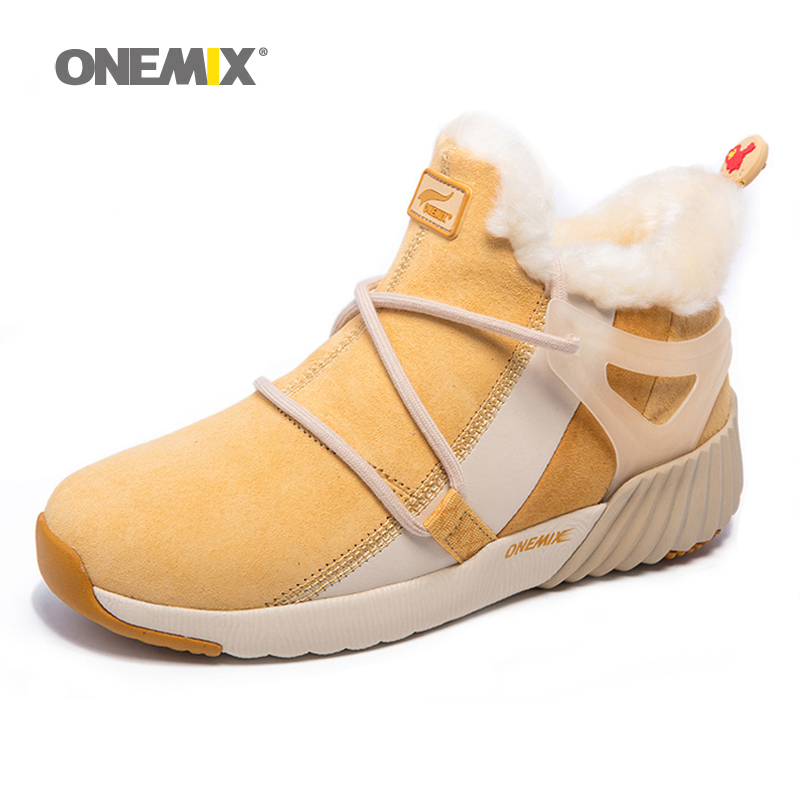 2016 New Winter Women's Snow Boots Keep Warm Sneakers for men Boots Comfortable Running Shoes Walking Outdoor Sport Trainers 2017brand sport mesh men running shoes athletic sneakers air breath increased within zapatillas deportivas trainers couple shoes