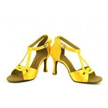 YOVE w167 10 Dance Shoe Satin Women s Latin Salsa Dance Shoes 3 5 Flare High