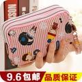 2015 Carteira кошельки большой емкости нулевой бумажник корея милый три молнии женщин сечение мобильного телефона леди короткие руки
