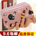 2015 Carteira Wallets Large Capacity Zero Wallet Korea Cute Three Zipper Women's Cross Section Mobile Phone Bag Lady Short Hand