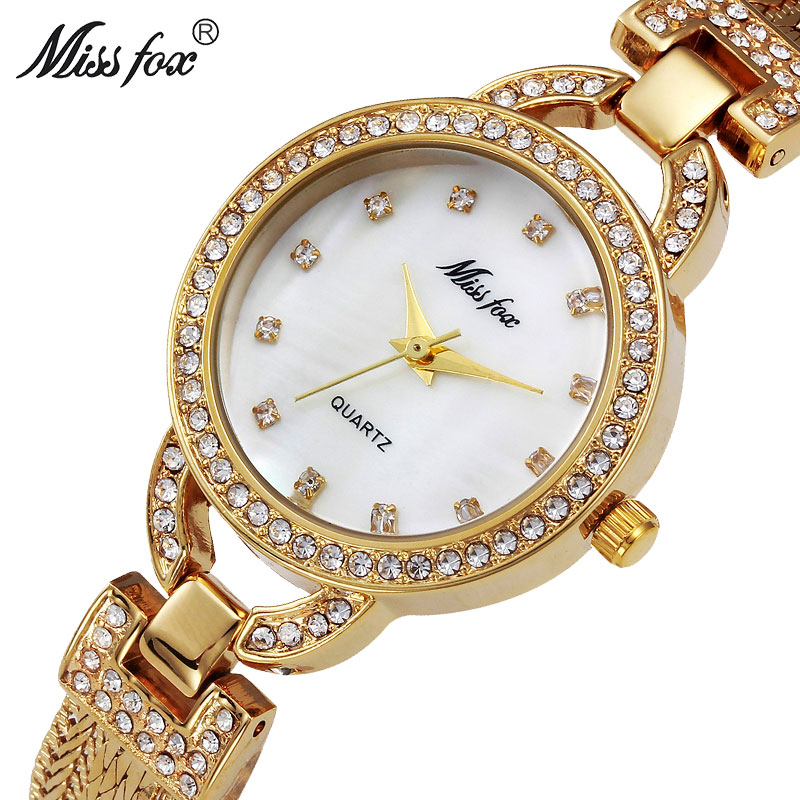 MISSFOX Miss Fox Brand Fashion Dameshorloges 2018 Goud Quartz Dame - Dameshorloges