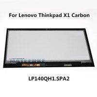 14 מקורית חדש SPA2 LP140QH1 עצרת מסך מגע LCD לתצוגה עם מגע לlenovo Thinkpad X1 Carbon 2560X1440 00HN829
