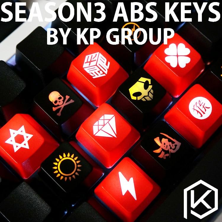 Novelty Shine Through Keycaps ABS Etched, Light,Shine-Through Black Red Custom Mechanical Keyboards Light Oem Profile