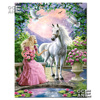 Unicorn And Girls Diy 5d Mosaic Diamond Painting Cross Stitch Full Round Diamond Rhinestone Embroidery Home
