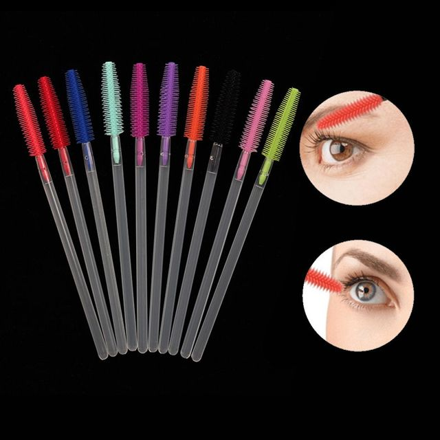 10pcs Eyelash Extension Disposable Eyebrow Brush Mascara Wand Applicator Spoolers Eye Lashes Cosmetic Brushes Set Makeup Tools