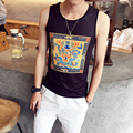 Amazon Quality Drop Shipping 2016 Newest Fashion Print Style Tank Top Sleeveless Men Bodybuilding Vest Fitness Tops Clothes