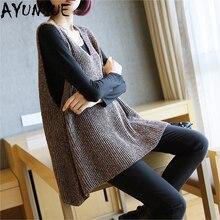 Корейский Осенний Свободный пуловер вязаный жилет женский свободный модный теплый свитер без рукавов женский жилет Горячая Распродажа LX2189