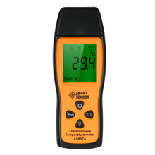 цена на SMART SENSOR Mini K-type Thermometer LCD Digital Handheld Temperature Meter with K Type Thermocouple Sensor