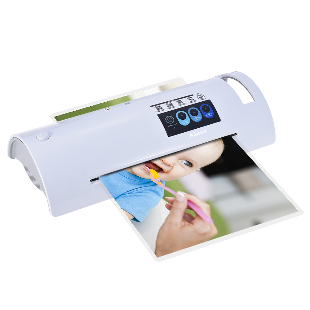 A4 Photo/Paper/Document Hot Laminator Quick Warming Up Fast Laminating Speed Temperature Adjustable for 75/100/125mic Pouch