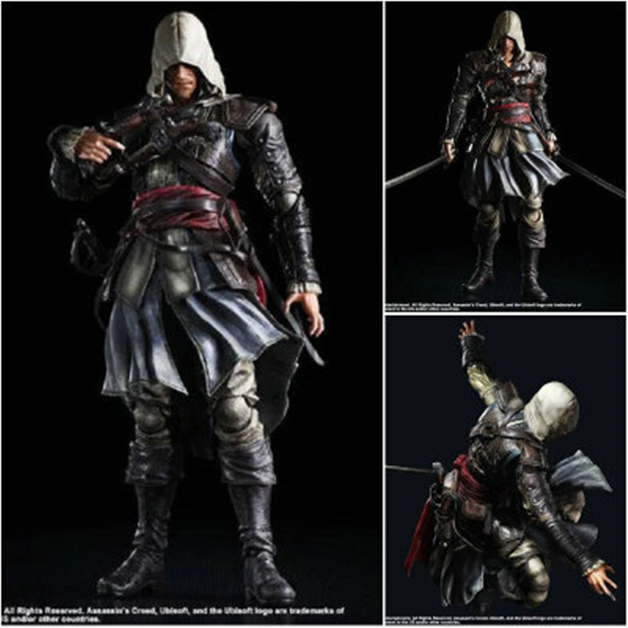 Play Arts Kai PA Assassin's Creed 4 Black Flag Assassin Greed Edward Kenway Figure 270MM PVC Action Figure Toys Gift Brinquedos майка print bar assassin s creed ezio collection