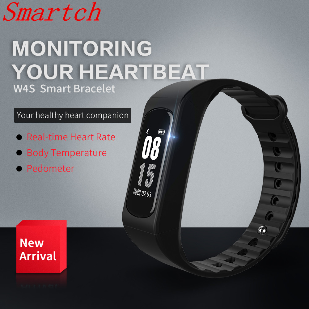 Smartch Smart band smart WristBand W4S ECG PPG Heart rate Blood Pressure measurement Pedometer Calorie Sport