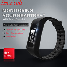 Smartch Smart Группа Смарт Браслет W4S ЭКГ ppg сердечного ритма Приборы для измерения артериального давления измерение калорий, шагомер спорт браслет для IOS в