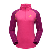 Breathable Quick-Drying Climbing Fast Dry Long Sleeve Patchwork t-Shirts Women Polo Dry Fit Hiking Clothes For Women TS6899