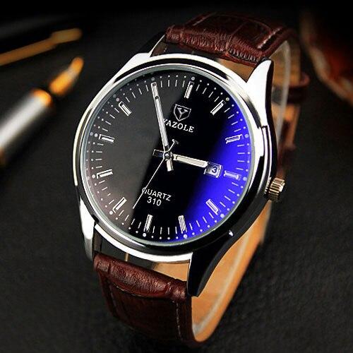 YAZOLE Neue 2019 Armbanduhr Männer Uhren Top-marke Luxus Berühmte Quarz Armbanduhr Für Männlichen Uhr Relogio Masculino Mit Kalender