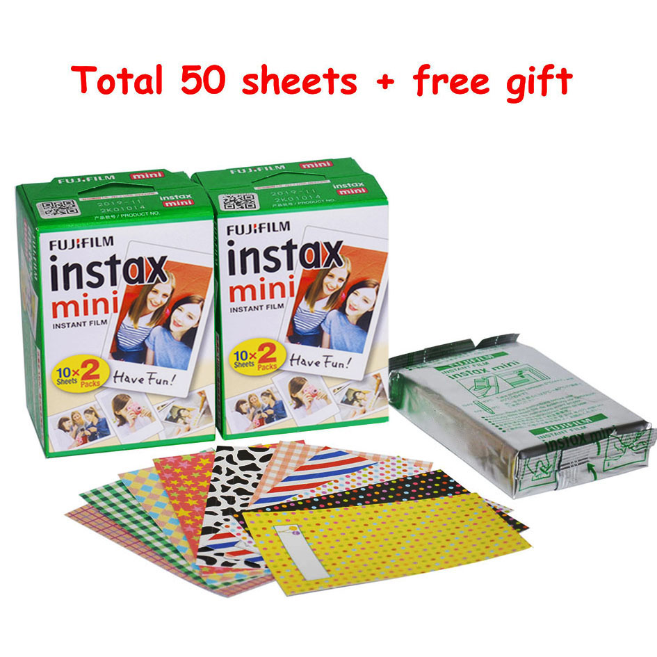50 Sheets Genuine White Fuji Instax Film Fujifilm Instax Mini 9 8 Film For Polaroid 50s 7s 90 25 Share SP-1 SP-2 Instant Cameras fujifilm glossy 10 2pk для instax mini 8 7s 25 50s 90 polaroid 300 instant 16386016