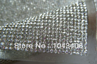 2014 Latest Hot Fix Rhinestone Trimming Mesh Heat Transferssuper Close And 2mm Ss6 Stone Crystal For